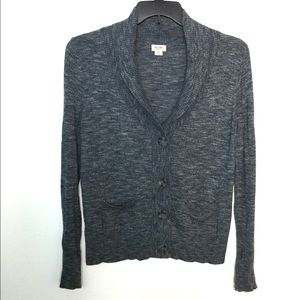 Mossimo L Cardigan Navy Blue Sweater Long Sleeve